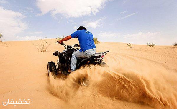 موتور سواری در کویر کاراکال