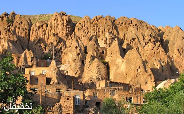 روستای کندوان تنها روستای صخرهای که هنوز که زندگی در آن جریان است.