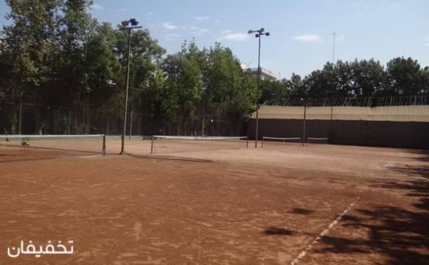 زمین تنیس مجموعه ورزشی شهید شیرودی