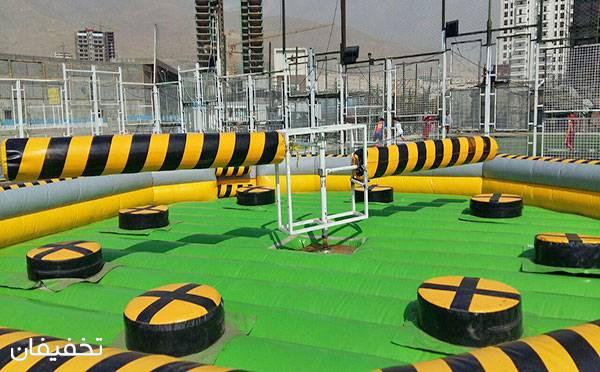 گردونه بادی در مجموعه شهر بادی بام لند - دریاچه خلیج فارس