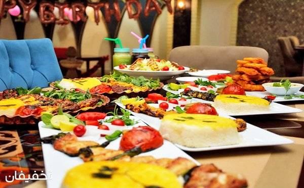 بوفه شام شاهانه در رستوران خوان کرم به همراه موسیقی زنده - شهرک گلستان